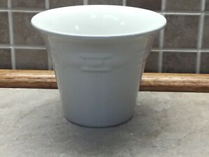 Longaberger-Pottery-Woven-Tradition-Large-Ivory-Flower-Pot-4-1-2-Tall