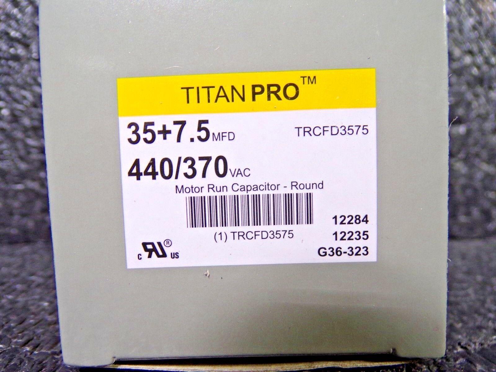 Titan Pro TRCFD3575 35+7.5 MFD 440 370V Round Motor Run Capacitor K