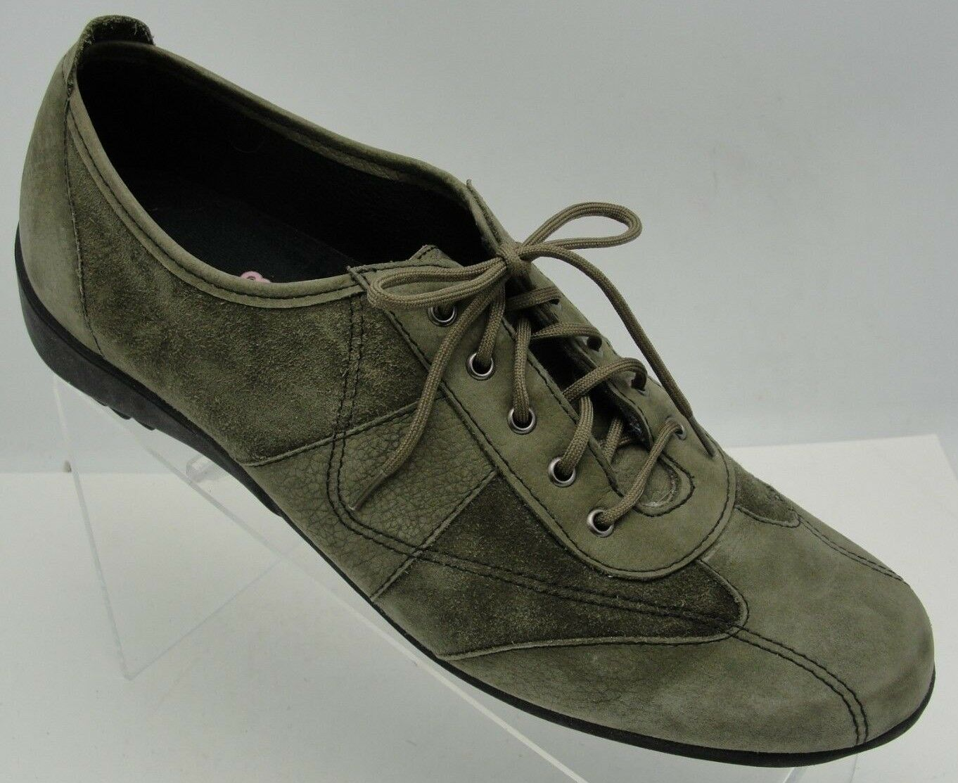 Clarks Bendables mujer 8.5M verde Suede Oxfords Comfort zapatos zapatos zapatos Leather Slip On  online barato