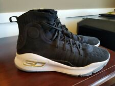 Under Armour Curry 4 Men's 10 Black Gold Shoes 1298306-001 Warriors Finals New