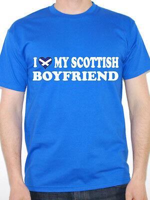 England Novelty Themed Mens T-Shirt Scotland I LOVE MY SCOTTISH HUSBAND