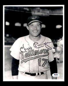 Chico Carrasquel PSA DNA Coa Hand Signed 8x10 Orioles Photo Autograph