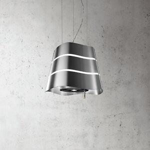 Elica-Vague-Hotte-Ilot-Acier-Inox-65414588-A-51-cm-Inox-Neuf-avec-LED