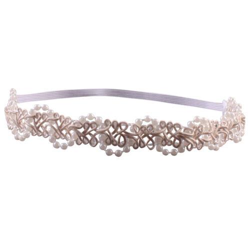 Baby Kinder Haarband Taufe Kinderhaarband Stirnband Haarschmuck Perle Kopfband