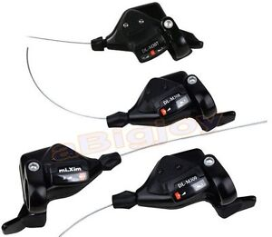 3x9 27Speed Thumb Shifters MTB Mountain Bike Bicycle Trigger Shift Lever w//Cable