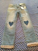 Gap Kids Lined Girl's Jeans Size 10 Stretch Straight Adjust