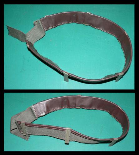 Braunes Leder Grün Mettal x Band für Stahlhelm M1 typ liner OD7 Eins D- 1