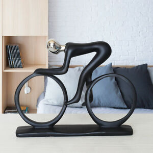 Abstract Bicycle Rider Sculpture Handmade Resin Bike Racing Statue Competition