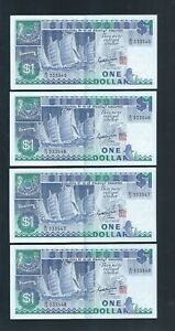 Banknote-Singapore-1-Ship-Series-4-Runs-Number-B-16-333545-548-133-XF