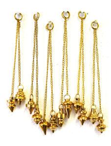 1-Brass-Pendulum-Dowsing-Spiritual-Energy-Healing-Divination-Dowser-NEW