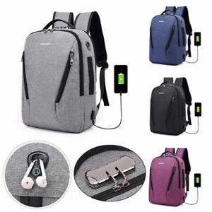 Fashion-Men-Women-Anti-Theft-Travel-Backpack-USB-Port-Shoulder-Laptop-School-Bag