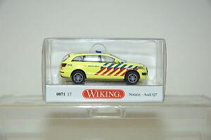 Wiking-07117-Audi-Q7-Notazt-AMBULANCE-HO-1-87-NEUF