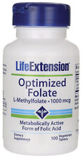 Life Extension - Optimized Folate (L-Methylfolate) 1000 mcg - 100 Vege Tablets