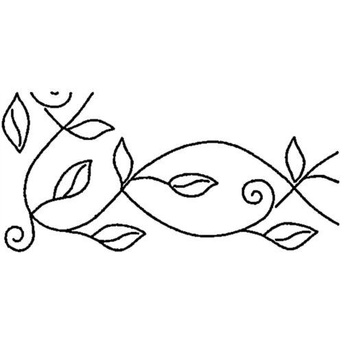 """Sten Source Quilt Stencils By Pepper Cory-5/"""" Leafy Branch Braid 8/""""x18/"""""""