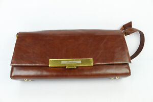 f4d54a8571e Image is loading VINTAGE-bag-worn-shoulder-BENLUNA-Brown-Leather-VERY-