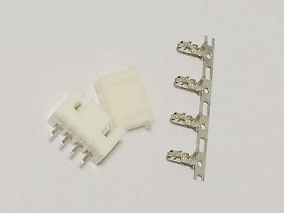 20 kits XH2.54mm 4pin JST Connector plug Male Female Crimps DIP 4P 2.54mm