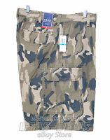 New Mens IZOD Cargo Shorts Navy Beige Khaki Green Camo Brown 32 34 36 38 40 42