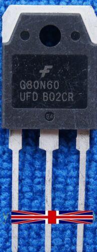 G80N60UFD G80N60-UFD SGH80N60UFD TO-3P Transistor from Fairchild Industries