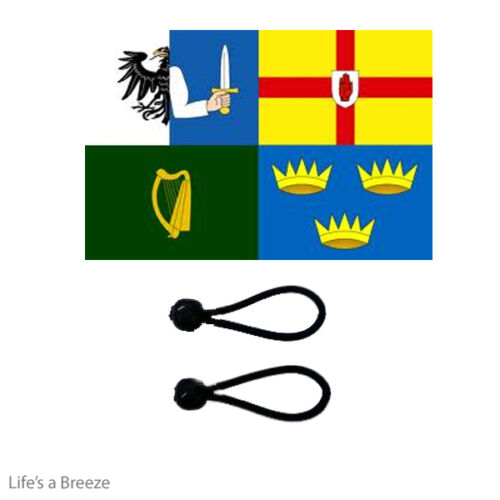 Ireland 4 Provinces Flag 5 x 3 Ft Poles Windsocks Comes With Free Ball Ties