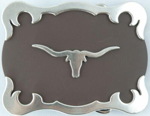 """Tandy Leather #1769-02 1-1//2/"""" Longhorn Steer Head Trophy Buckle"""