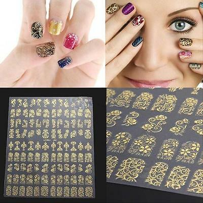 108Pcs Nail Art Sticker Water Transfer Stickers 3D Flower Decals Decoration uf