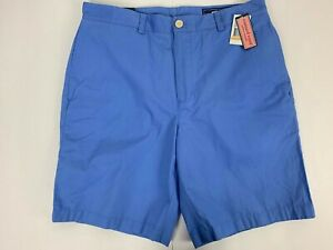 "Vineyard Vines Men/'s Neon Embroidered Fishbone Classic Fit 9/"" Blue Shorts"