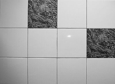 SILVER/BLACK SLATE -Tile transfers - (10 per pack)