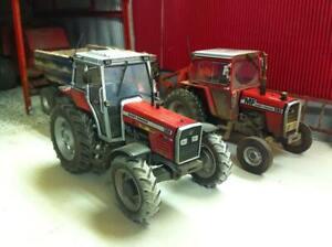 A3-Massey-Ferguson-590-amp-399-Tractor-Poster-Brochure-Britains-Farm-1-32-Diorama