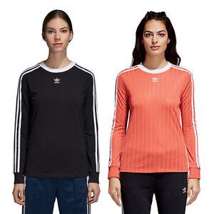 Details zu adidas Originals 3 Stripes Longshirt Damen Shirt Langarm Pullover Oberteil