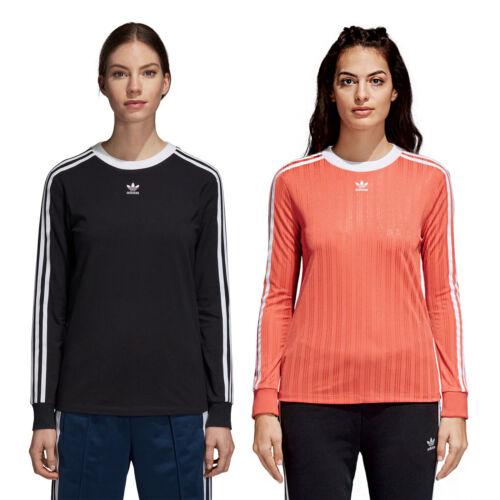 3 Maglia Maniche Lunghe Adidas Pullover Lunga Donna stripes Camicia Originals T7pxw5