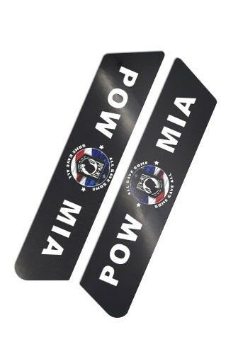"/""Pow Mia/"" Saddlebag Delete Decal Inserts For Harley Police Models 08-14"
