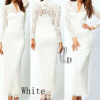 Sexy Lace Wedding Cocktail Party Formal Evening Maxi Dress AU SELLER dr068