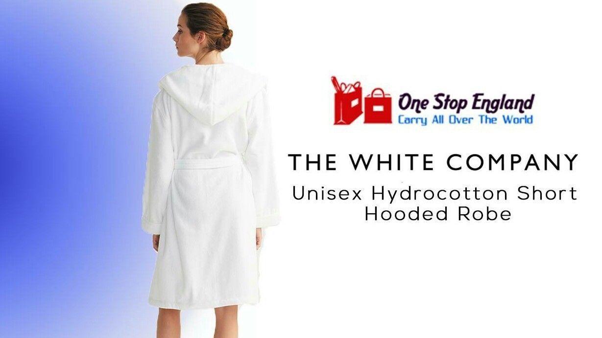 The white company Unisex Short Hydro-cotton robe - White (M,L,S)BRAND NEW