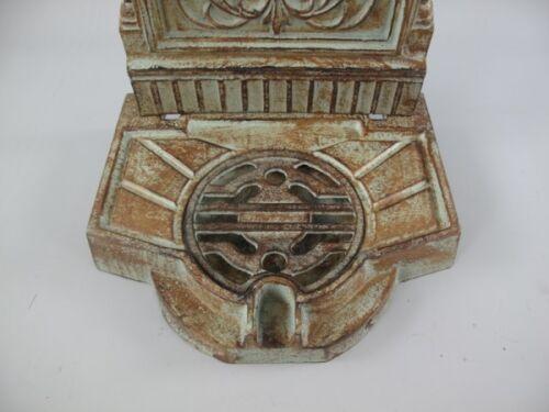 Stand pozo columna de agua pie pozo cobre pátina verde cincel Antik Vintage