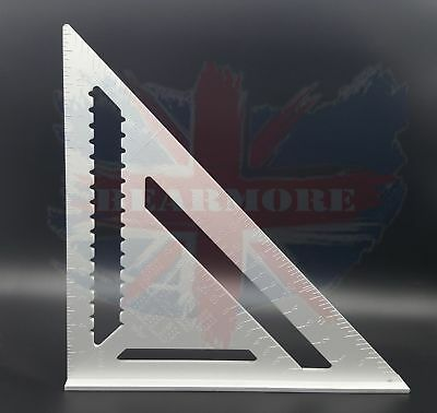 30CM Big ROOFING SPEED SQUARE ALUMINIUM RAFTER ANGLE MEASURE TRIANGLE GUIDE 23D