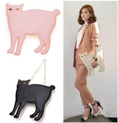 Hot Fashion Cat Stud Shoulder Chain Handbag Messenger Tote clutch Purse bag