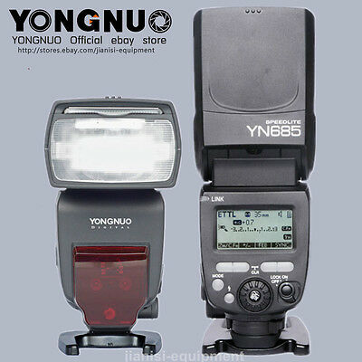 YONGNUO TTL YN685 Flash Speedlite Flashgun for Rebel 6D MarkII 6D T6 T5 40D 60D