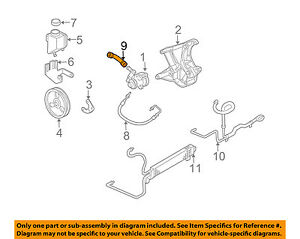 Chevrolet GM OEM 97-13 Corvette-Power Steering Return Hose 15907878