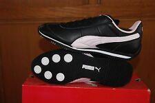 Youth Kids Puma Speeder Jr Black Heavenly Pink Sz 5 Shoes Sneakers