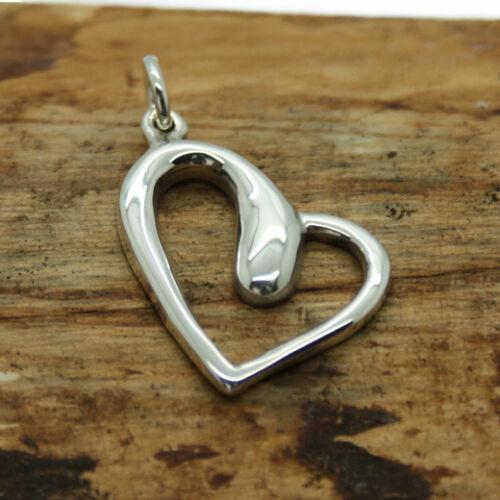 Silver Heart Pendant  Sterling Silver 925 Heart Pendant Necklace jewelley