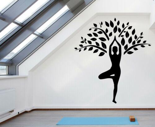 Yoga Training Sport Relax Namaste Wall Vinyl Decal Sticker Room Decor TK856