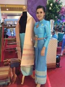 THAI WEDDING DRESS TRADITIONAL BRIDAL CHUT THAI BOROMPHIMAN SM9 | eBay