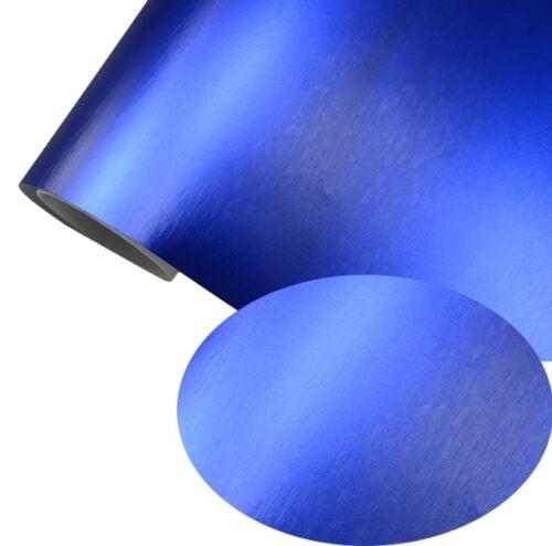 Film Bleu royal Mat Chrome Metallic brossé 152 cm x 500 cm Gaines