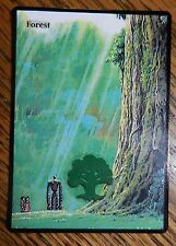 Magic the Gathering Basic Land Mtg Altered Art Ghibli Castle in the Sky Forest
