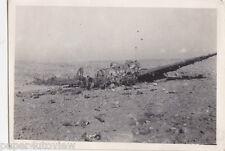 OLD PHOTO WW2 MILITARY PLANE AEROPLANE CRASH DISASTER WAR SALLUM PASS 1940S
