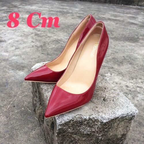 Intense Cuir 34 Sexy Rouge 12cm 8 neuves 43 Au talons Luxe Escarpins Vernis 10 ZqX6vnvE1