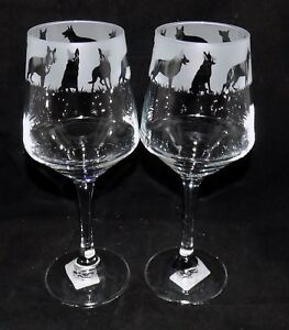 New-Etched-034-GERMAN-SHEPHERD-034-Wine-Glass-es-Free-Gift-Box-Large-390mls-Glass