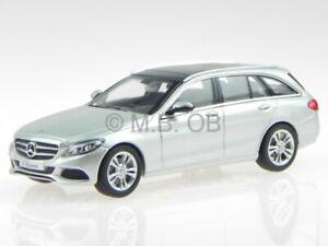 Mercedes-S205-C-class-T-model-estate-Avantg-silver-diecast-model-car-Norev1-43