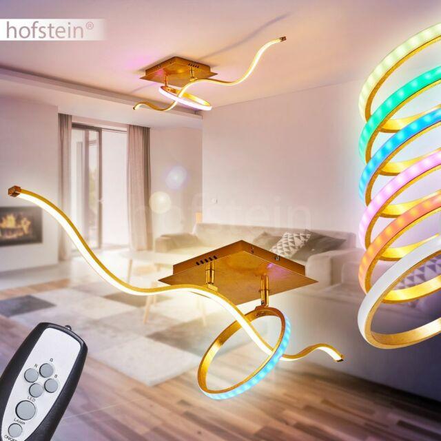 RGB LED Wand Strahler schwarz gold Schlaf Zimmer Dimmer Flur Lampe FERNBEDIENUNG
