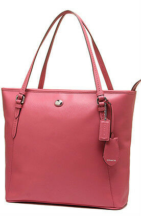 NEW ARRIVAL! COACH PEYTON LEATHER ZIP TOP TOTE BAG PURSE STRAWBERRY $358 SALE
